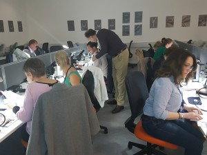 Branko Deljanin assisting Assay lab gemmologsist at advanced diamond workshop