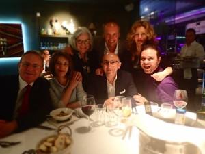 Jeffrey, Elena N, Gail, Alan, George, Zeljka and Travis at conference dinner