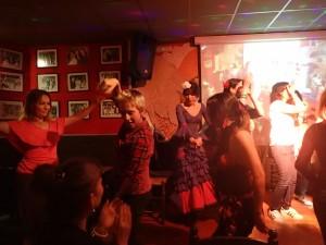 Kirill, Elena and Flamenco dancer in Valencia