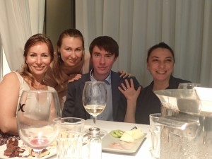Russian team at conference dinner