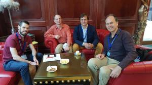 Brad Cann, Aleksey Bidny, John and Branko in lobby