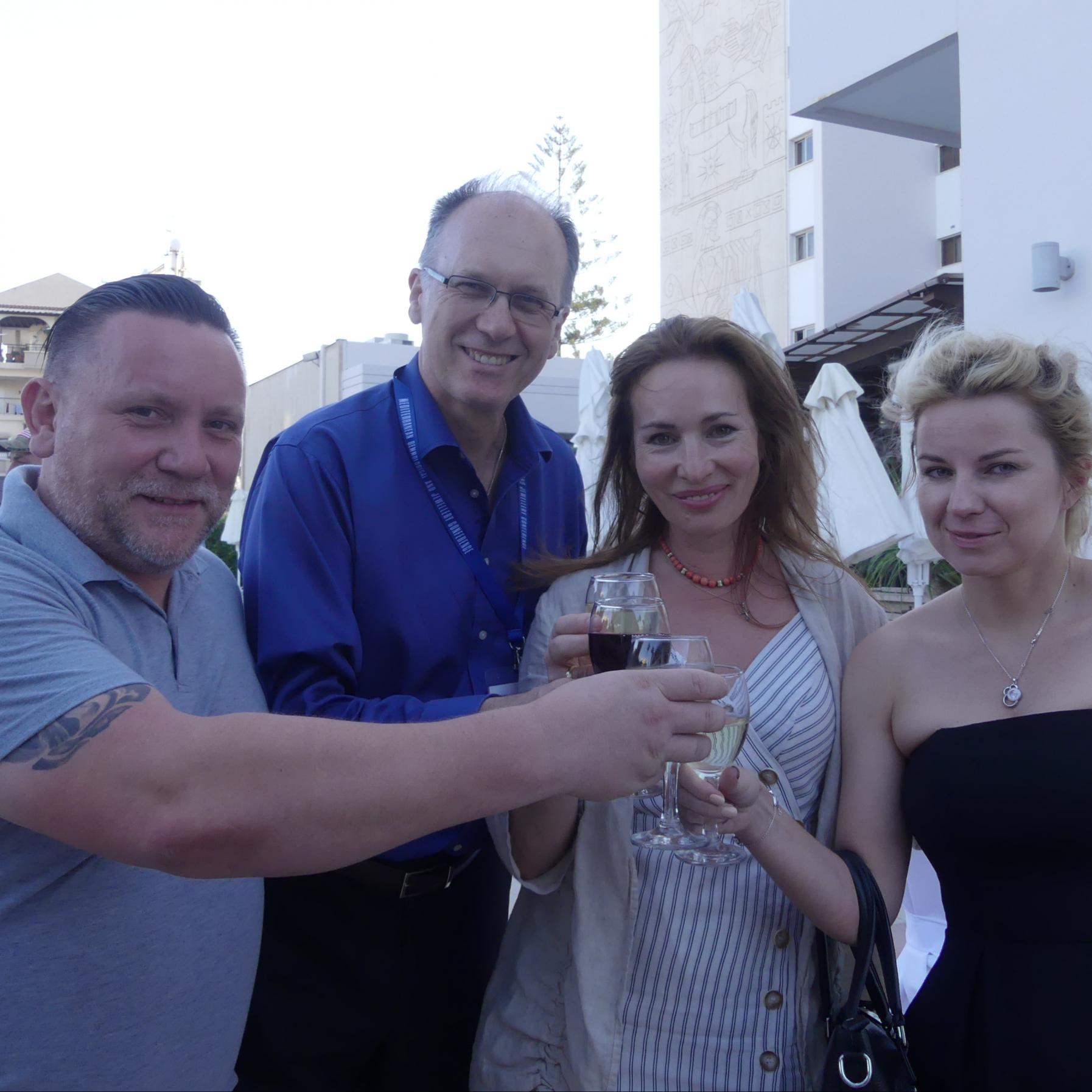 Andrey, Branko, Elena and Julia from Tais HK