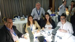 George and Cypriot team at opal workshop