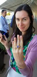 Naomi with purple star sapphire ring
