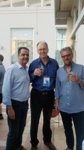 Robert (New Jeweler), Branko and Yaakov (IDEX) at cocktail party