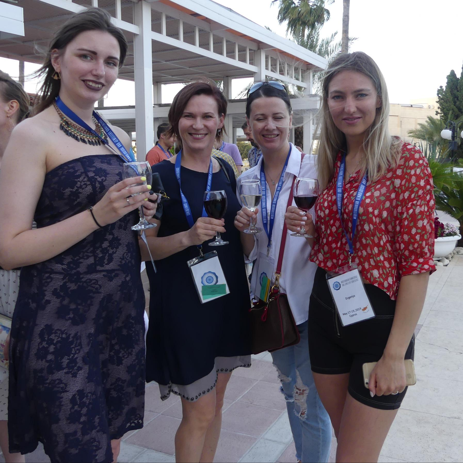 Russian participants at cocktail reception