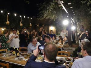 Dancing Greek music at gala dinner