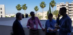 ISRAELI PARTICIPANTS Moish, Yaakov, Srgey  and David  at coffee break