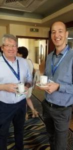 Mark Culinan and David Block (Sarine Technologies ) at coffee break