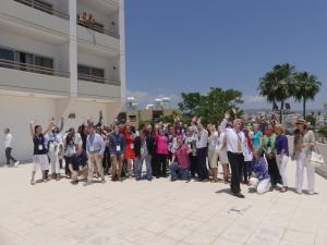 GROUP PHOTO last Day Diamond Workshops, waiving to drone