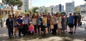 Group photo in front of parliament in Nikosia
