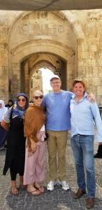 Sarah, Laura, Branko and Brian at  Lions Gate Jerusalem
