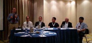 John Chapman moderator, Thomas, Branko, Andru, Heinrich and Joe at Synthetic Diamondf Table