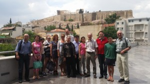 Tour of Athens in front of Acropolis
